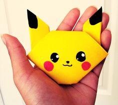 Origami Pikachu by kabateru-chan.deviantart.com on @deviantART