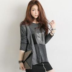 Color-Block Wool Blend T-Shirt from #YesStyle <3 GLAM12 YesStyle.com
