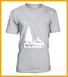 Merry Christmas Winter Snowflakes Mens TShirt - Winter shirts (*Partner-Link)