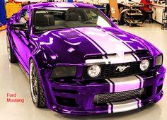 Purple mustang not a ford fan but i want itt so bad! Purple Love, All Things Purple, Purple Stuff, My Dream Car, Dream Cars, Purple Mustang, Mustang Stripes, Automobile, Auto Retro