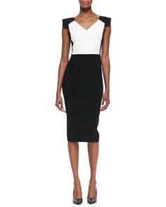 Atria Cap-Sleeve Sheath Dress by Roland Mouret at Bergdorf Goodman.