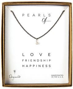 dogeared pearls of...white potato pearl necklace, charcoal, 18""