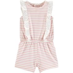 2c277890a31e Baby Girl Carter s Striped Ruffled Sunsuit