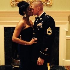 Lovely military couple #wmbw #bwwm