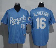 b4e621432 Royals  16 Bo Jackson Light Blue New Cool Base Alternate 1 Stitched MLB Jersey  Kansas