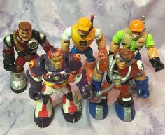 Fisher Price Rescue Heroes 5 Figures Lot 1997-2001 #FisherPrice