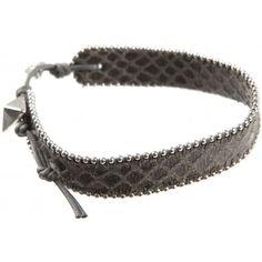 Pyramid Snake Effect Leather Bracelet £42.95 #EthicalJewellery #EthicalFashion