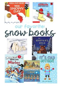 Our Favorite Books About Snow. Great list for a snow unit study, classroom or to build your home library.
