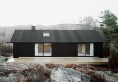architect Johannes Norlander's studio in Sweden. Renovated a 50's cottage using ship building techniques.