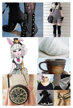 """""""Bunny Blanc"""" by elli-jane-xox ❤ liked on Polyvore featuring cutekawaii and Dolce&Gabbana"""