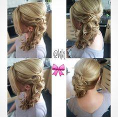 Pretty fishtail plait side curls