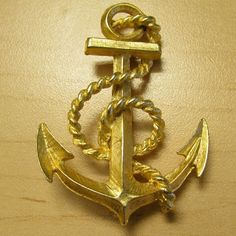 Anchor Brooch $$MOVING SALE$$ In good condition, 2.5 inches long!  MOVING SALE!!!!!! CLOSET CLEAR OUT! Taking all offers as long as they are made using the button! (Note I do not accept offers $5 or less) I also bundle for a bargain, just ask! Jewelry Brooches