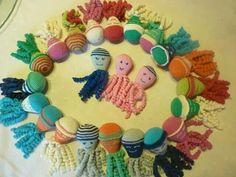 Deze inktvisjes zijn gemaakt door Gisele de Blay.