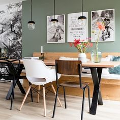 banking scandinavisch banking scandinavisch 7 Scandinavian dining spaces you will dream about - Daily Dream Decor My Living Room, Interior Design Living Room, Home And Living, Dream Decor, Living Room Inspiration, Sweet Home, House Design, House Styles, Furniture