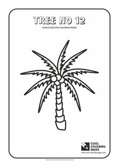 Simple and easy coloring pages for toddlers - Tree no 12