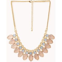 FOREVER 21 Sweet Talk Iridescent Bib ($8.80) ❤ liked on Polyvore featuring jewelry, necklaces, fake necklace, polished stone necklace, fake jewelry, stone necklace and forever 21 necklace