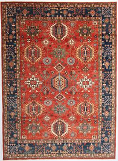 "New Afghanistan Hand-Knotted Antique Recreation of a 19th Century Persian Karajeh Design 10'3""x 13'8"""