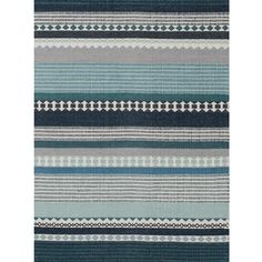 Hibiscus cotton hand woven Rug by Linie Design. One of our new. popular rugs, with this intricate, modern design and colour mix of turquoise blues, deep blues, greys & white & in 2 sizes it will make the plainest of floors look dress in style...Danish style.