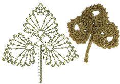 Image Article – Page 859765385086265125 Crochet Leaf Patterns, Crochet Leaves, Crochet Circles, Crochet Designs, Crochet Flowers, Freeform Crochet, Crochet Motif, Crochet Garland, Crochet Fruit