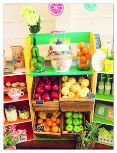 Tutti Frutti Christening Birthday Party viA Kara's Party Ideas | KARASPARTYIDEAS.COM (18)