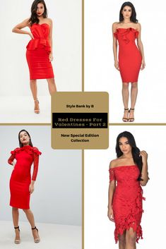 As promised, here is part 2 of the Red Dresses For Valentines collection 💝💘 - http://www.stylebankbyb.com/fashion/special-edition-red-dresses-for-valentines-part-2