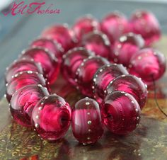 Hot Fuchsia rounds with fine silver 20 Beads. Starting at $45 on Tophatter.com!