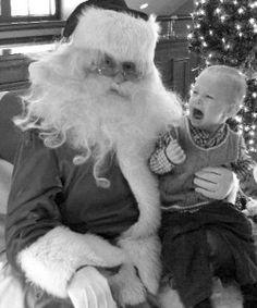 #ScarySanta     Santa is scary even in Black & White.