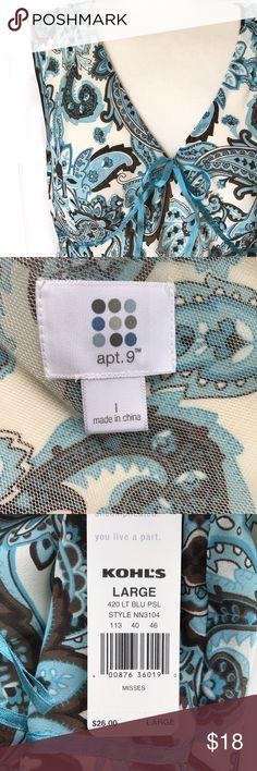 Selling this NWT Apt. 9 Cream Paisley Sleeveless Shirt on Poshmark! My username is: katmazzaro. #shopmycloset #poshmark #fashion #shopping #style #forsale #Apt. 9 #Tops