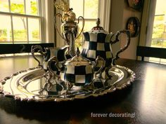 Forever Decorating!: Courtly Check Tea Service!
