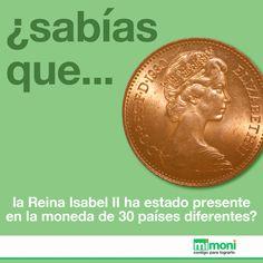 La reina Isabel II posee el récord por aparecer en más monedas que cualquier otra persona.