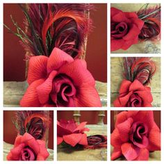 Your place to buy and sell all things handmade May, Burlap Wreath, Pin Up, Feather, My Style, Flowers, Black, Quill, Black People