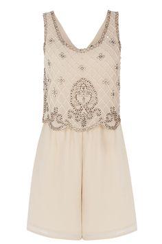 New 1920s dress for sale UK: Embellished Top Playsuit £18.00