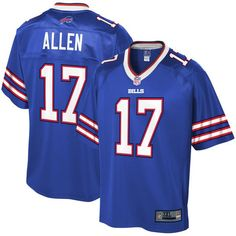 ffbf8f4e9 Nike and Pro Line Josh Allen Jerseys of the Buffalo Bills. Blue