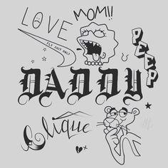 – tattoos – – Graffiti World Lil Peep Tattoos, Daddy Tattoos, Mini Tattoos, Future Tattoos, Small Tattoos, Ankle Tattoos, Sailor Tattoos, Flash Art Tattoos, Body Art Tattoos
