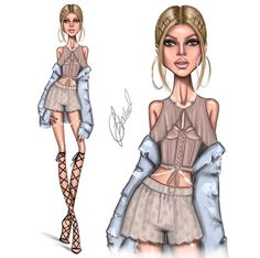illustration by the artist Ldochev Arte Fashion, Girl Fashion, Womens Fashion, Fashion Design Drawings, Fashion Sketches, Model Sketch, Creation Art, Hayden Williams, Sofia Richie