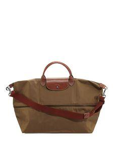 Online Discount Portable Longchamp Le Pliage Travel Bags Khaki