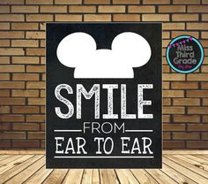 Mickey Mouse Inspired Smile from Ear to Ear 20x30 by MsThirdGrade