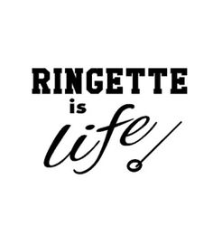 "Ringette is Life Wall Decal    (Approx Size 12.5"" wide x 8.5"" high) Item consists of a vinyl decal with no background color Perfect décor for to any room  Easy to apply with sticky backing. No glue required Can be easily removed. Removes cleanly with no residue Application instructions will be provided Can be used on just about any hard, smooth surfaces indoors or outdoors"
