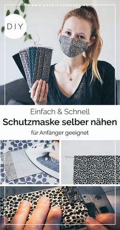 DIY Maske selber nähen – Well come To My Web Site come Here Brom Homemade Face Masks, Diy Face Mask, Crafts To Sell, Diy And Crafts, Diy Furniture Redo, Diy Clothes, Hand Sewing, Sewing Projects, Creations