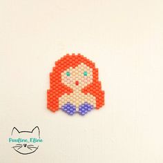 Brick stitch little mermaid- Ariel