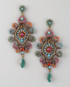 Scrollwork Pave Earrings   StyleCaster