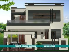 House front elevation design, view, interior design images in Pakistan. 5 Marla, 10 Marla, 1 Kanal house designs ideas pictures in Pakistan - Waris. Duplex House Design, Duplex House Plans, House Front Design, Small House Design, Dream House Plans, Modern House Design, Latest House Designs, Cool House Designs, 10 Marla House Plan