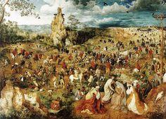 Pieter Bruegel the Elder - The Procession to Calvary, 1564, Kunsthistorisches Museum, Vienna