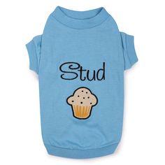 Zack & Zoey Stud Muffin Dog T-Shirt at BaxterBoo