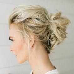 Messy Blonde Updo