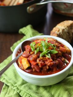 Farro Chili with Summer Squash and Red Beans