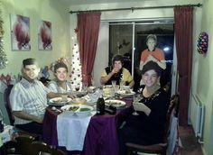 Parents and Granparents of girl Played a prank on her on Christmas!  She went to the bathroom and came back to see 1d in her dinning room, she almost had a breakdown till she realized... poor thing! lol