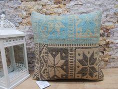 tribal kilim pillow / turkish pillow / home decor pillow / anatolian kilim pillow / oriental kilim pillow / 16x16 pillow cover / code 7658 Patio Pillows, Rustic Pillows, Bohemian Pillows, Cushions On Sofa, Decorative Pillows, Aztec Pillows, Kilim Pillows, Throw Pillows, Sofa Pillow Covers