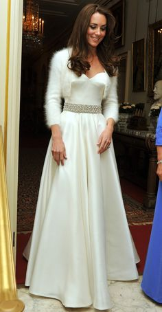 Her Royal Highness, Catherine, Duchess of Cambridge ..... The second dress worn on her wedding day .....