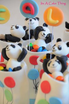 Panda mini cakes by Its A Cake Thing